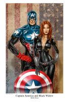 Captain America  Black Widow by MitchFoust