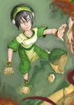 Toph vs fire bender by oblesse