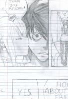 Death Note L Kiss by thepaulmccartney1996