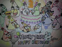 Angry Birds Birthday: Happy Birdday by MeganLovesAngryBirds