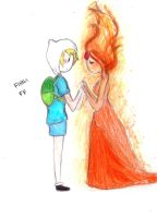 finnXflame princess by NENEBUBBLEELOVER