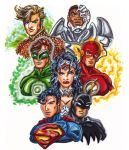 Justice League DC New 52 by KwongBee-Arts