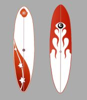 Surfboard red version by Santini