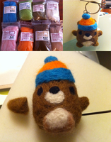 Needle Felting: Mukmuk by missjtsang