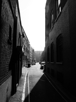 Sun Bleached Side Street by Party9999999
