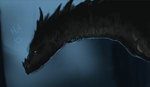 Deviant ID! unfinished dragon by SunsetDragonfly