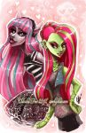 MONSTER HIGH: Rochelle and Venus by SpookyChan