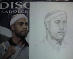 Quick sketch tennis player by mauricem