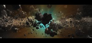 Asteroid Field by barrymdesigns