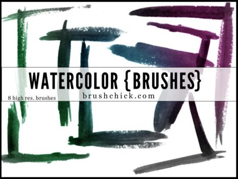 Watercolor Corner Brush Pack by brushchick