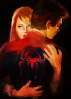 Peter Parker and Gwen Stacy by pebbled