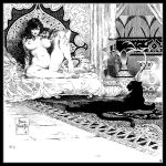 Frazetta Black and White by SURFACEART
