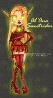 Monster High OC- Al'Ana Sunstrider by RavenNoodle