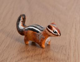 Chipmunk animal totem, polymer clay by lifedancecreations