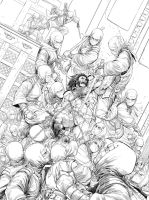 Imagine FX _ Wolverine VS Ninjas Workshop Pencils by Nisachar
