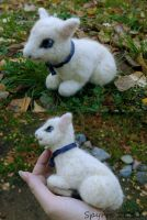 Felted small lamb by Spyrre