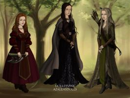 Genderswapped Lord of the Rings The Three Hunters by spindrift112