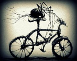 arachnid and bicycle by misterpila