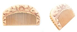 Little wooden comb owl by ChibiPyro