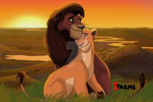The Lion King - Kovu and Kiara by Diego32Tiger