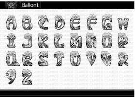 Baliont - Letterform Designing by clairde