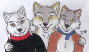With my friends :3 by DanyWolf