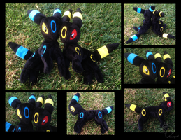 Small Floppy Umbreon Plushies by racingwolf