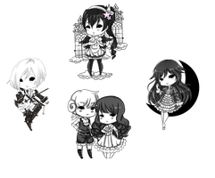 B/W Tinierme Cheebs by Ornithogale