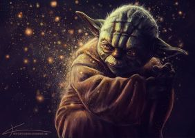 Master Yoda by apfelgriebs