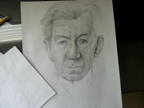 Sir Ian McKellen: Unfinished I by EiDrianDM