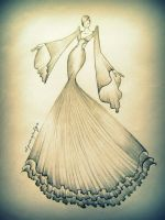 my creative long gown design....is this look fine? by Alquinepulga
