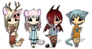 Chibi Collab: SOLD by Kuro-Creations