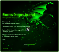 Biocras Dragon Journal by DragonsFlameMagic