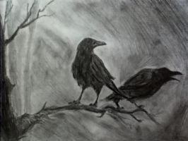 Ravens in the Dark by MonsieurJackass