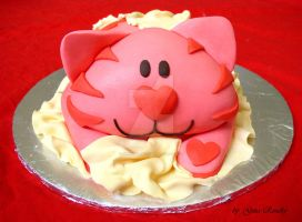 Pink Cat Cake by ginas-cakes