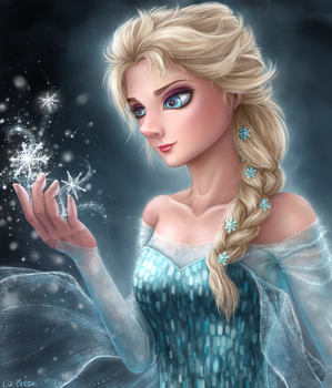 Frozen : Elsa by RedLadyMercenary