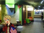 Hetalia - America + his Burger by PucchiPuchi