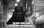 Batman and Wondie Hunting by Sinister-Scribe