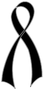 Support Ribbon Black by hassified