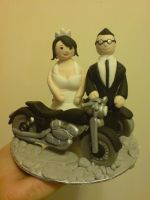 Bikers Wedding Cake Topper by Catzombies