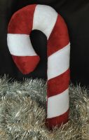 Candy Cane Minky Plush by Blue-Shift-Recall