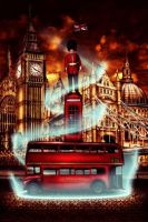 London - Red Colors by Andreev-PLAC
