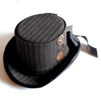 Steampunk Mini Top Hat by RagDolliesMadhouse