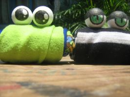 Sock puppets by Famana