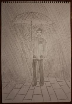 Walking In The Rain by StevenDrawings