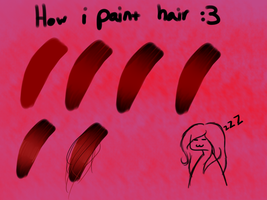 Small tutorial on how i paint hair by Knife-Girl