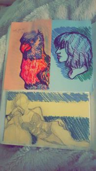 Index Card Marker Doodles by SaltDrawsThings