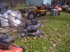 The Lawn Mower Graveyard by KMKramer44