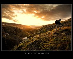 A walk in the sunrise by tuborg