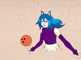 Ahri - Bowling Girl Color by soiden135